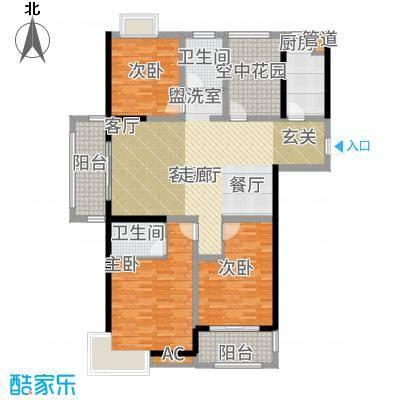 书香门第136.00㎡高层1-1户型