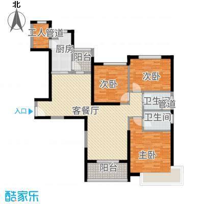 新余恒大城141.01㎡11号楼1单元1号3室户型