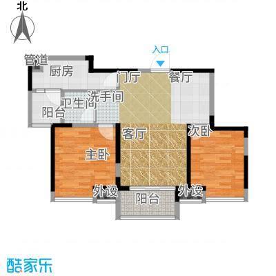 中铁滨湖名邸87.22㎡二期8#楼D1户型