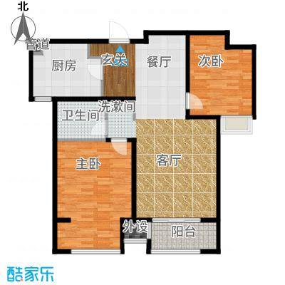 中铁滨湖名邸93.23㎡一期C2户型