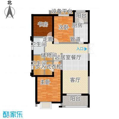 华润中心凯旋门135.00㎡户型