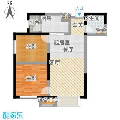 中海国际社区82.00㎡高层A3、A9、G1号楼标准层C户型