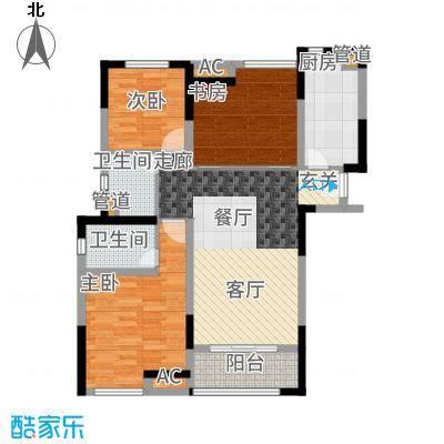 中海国际社区109.00㎡中海派1#-6#、8#-9#楼户型