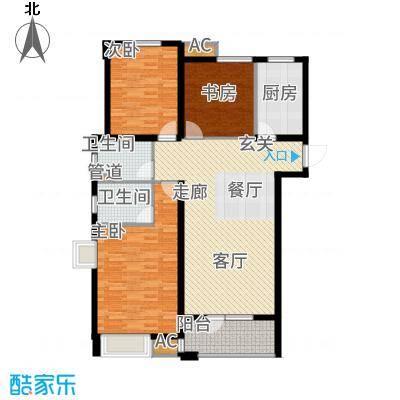 中海凤凰熙岸118.00㎡2号楼3号楼4号楼10号楼标准层C3户型