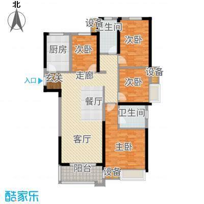 中海世纪公馆127.00㎡一期11号楼标准层B户型
