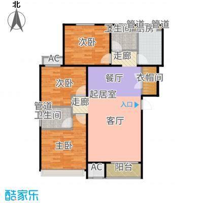 铂悦派高层106#楼标准层B1a户型