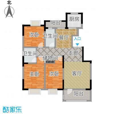 中泽城124.77㎡户型