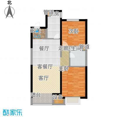 晋中万科朗润园90.00㎡晋中万科・朗润园1号户型