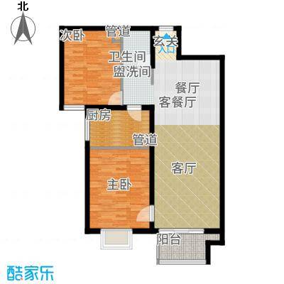 悦澜湾89.42㎡8942户型