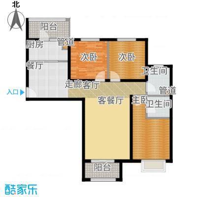 悦澜湾124.13㎡12413户型