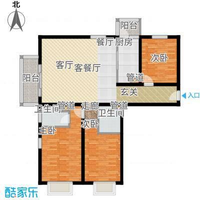 悦澜湾138.59㎡13859户型