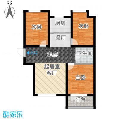 荣盛锦绣天地11#楼标准层E1户型