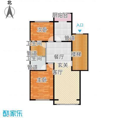 蓝调沙龙雅园98.37㎡D底12面积9837m户型