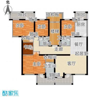水木兰亭三期208.63㎡水木兰亭一期B'户型5室2厅