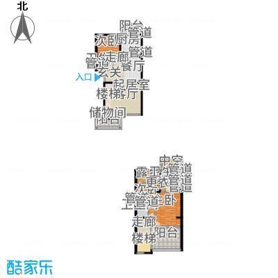 水木兰亭三期168.82㎡水木兰亭一期H户型3室2厅