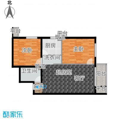 强佑·清河新城93.49㎡清河新城2、3号楼b1反户型2室1厅