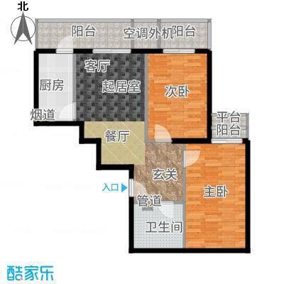 强佑·清河新城88.17㎡清河新城1号楼b户型2室2厅