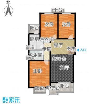世界名园(燕都国际文化生态社区)102.47㎡C户型3室2厅