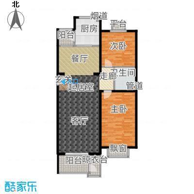 世界名园(燕都国际文化生态社区)98.71㎡F户型2室2厅