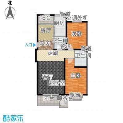 世界名园(燕都国际文化生态社区)105.43㎡B1户型2室2厅