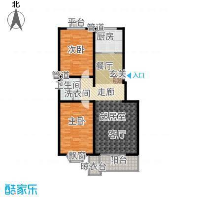 世界名园(燕都国际文化生态社区)102.77㎡C1户型2室2厅