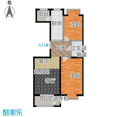 世界名园(燕都国际文化生态社区)97.78㎡57-61号楼D户型2室2厅