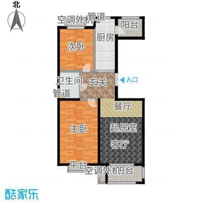 世界名园(燕都国际文化生态社区)98.89㎡57-61号楼B户型2室2厅