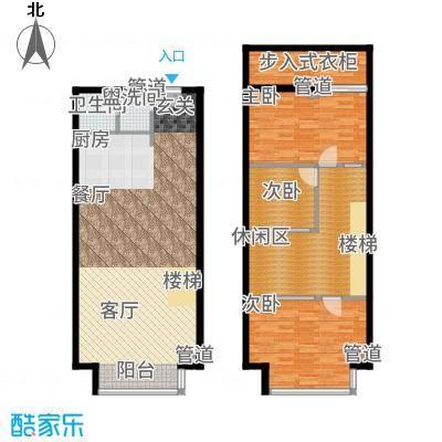 UP生活82.49㎡KT-户型3室3厅
