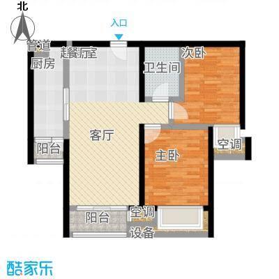 北京城建·世华泊郡87.00㎡4号楼I4户型2室2厅