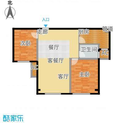 鲁能·7号院82.71㎡B户型2室1厅