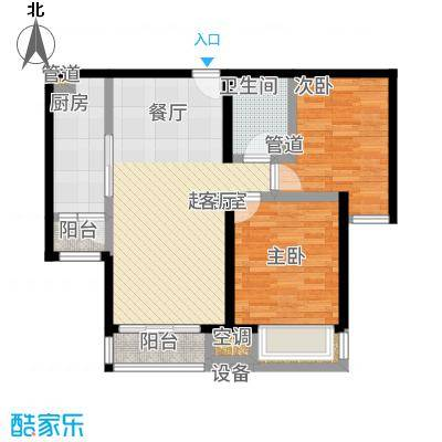 北京城建·世华泊郡89.00㎡13号楼H1户型2室2厅