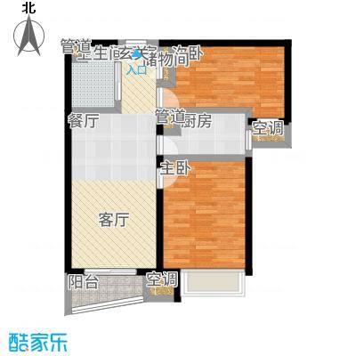 北京城建·世华泊郡85.00㎡6号楼B-1户型2室2厅