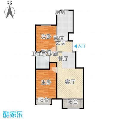 北京城建·世华龙樾87.00㎡北京城建世华龙樾C户型2室2厅