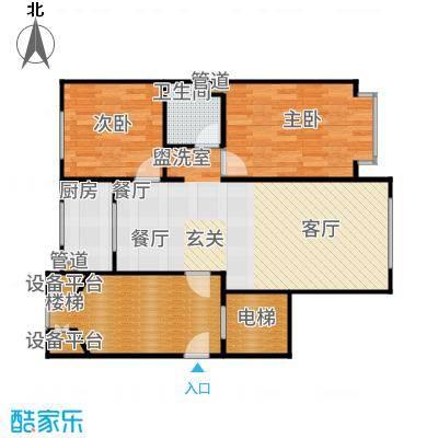 北京城建·世华龙樾85.00㎡二期3、5、6、7、8号楼G户型2室2厅