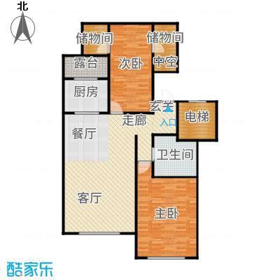 北京城建·世华龙樾90.00㎡二期Cd户型2室2厅