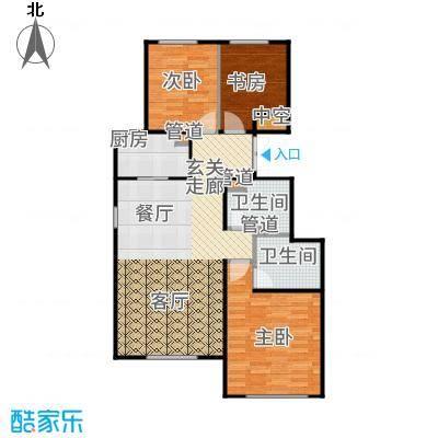 北京城建·世华龙樾97.00㎡二期Ad2户型2室2厅