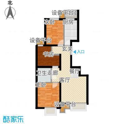 润枫领尚89.00㎡四期19号楼C户型3室2厅