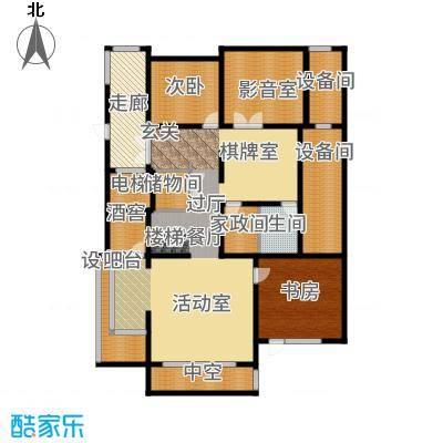 五矿万科·如园220.00㎡A地下一层户型6室2厅