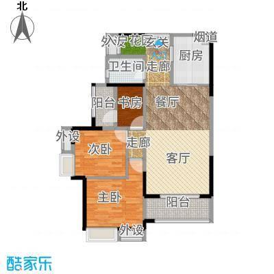 旭辉翡翠公馆高层B户型2室2厅