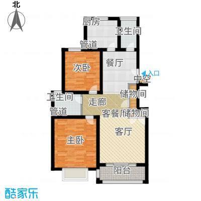 浦江颐城晶寓88.00㎡公寓B户型2室2厅