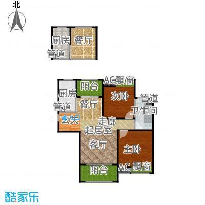 恒文星尚湾89.00㎡星尚湾D2/位于23、25、28、29#户型2室2厅