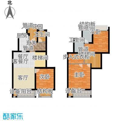 浦江颐城晶寓176.00㎡花园洋房户型3室2厅