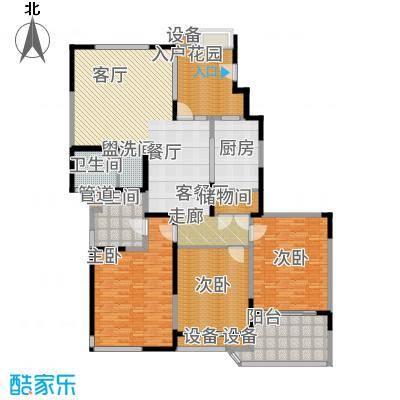 浦江颐城晶寓190.00㎡B户型4室2厅