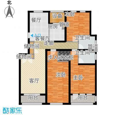 浦江颐城晶寓150.00㎡洋房B户型3室2厅