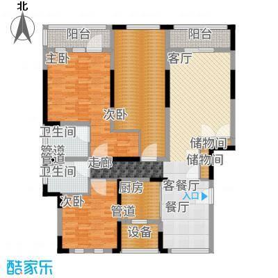 浦江颐城晶寓150.00㎡三楼户型3室2厅