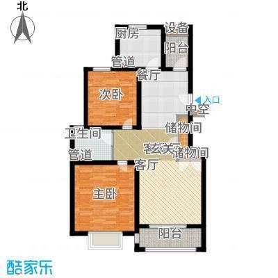浦江颐城晶寓88.00㎡B户型2室2厅