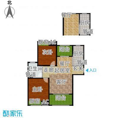 恒文星尚湾90.00㎡星尚湾D4/位于26、27#户型2室2厅
