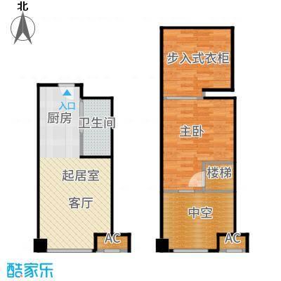 上坤乐城36.00㎡一居户型1室1厅