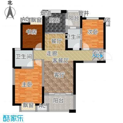 可逸兰亭107.00㎡E12+户型3室2厅