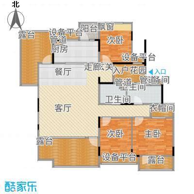 万科时一区128.00㎡4楼边套户型3室2厅
